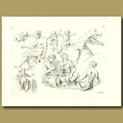 Drawings Of Cherubs And Women