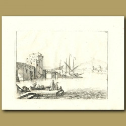 French Harbour With Boats
