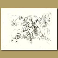 Drawings Of Cherubs
