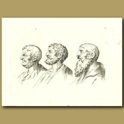 Portraits Of Three Men