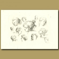 Drawings Of Women And Children's Head