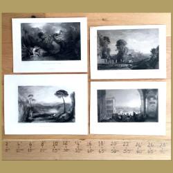 Set of 4. Landscape views