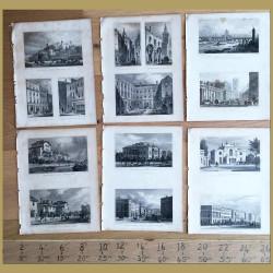 Set of 4. London Buildings