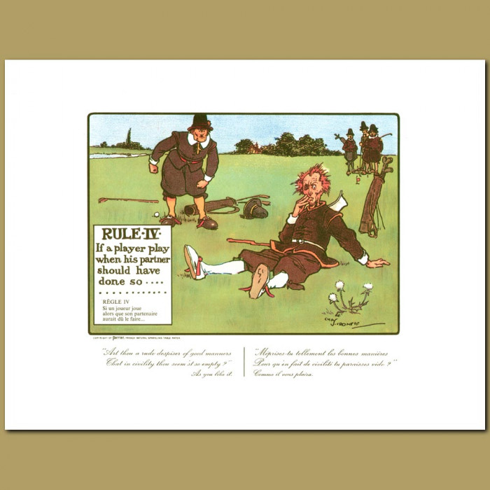 Antique print. Rule IV If a player play when his partner should have done so