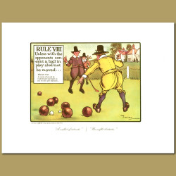 Rule VIII Unless with the opponents consent a ball in play shall not be moved