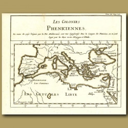 Map Of The Mediterranean And Phoenecian Colonies