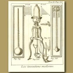 Thermometer, Pneumatic Machine And Barometer