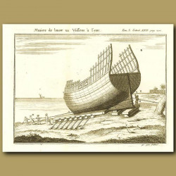 Hull Of A Ship Out Of The Water