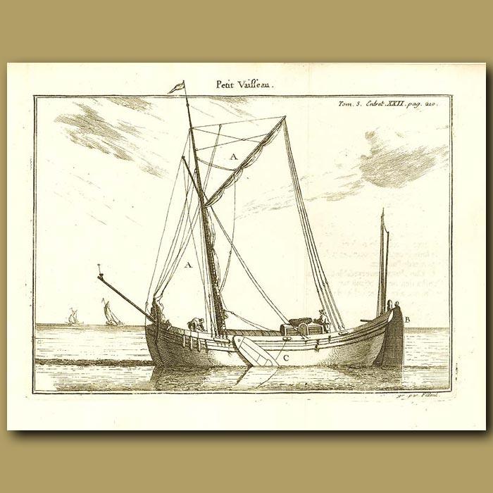 Antique print. Small Boat
