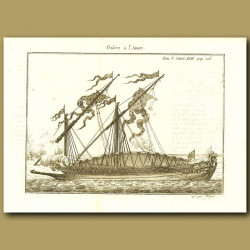 Galley With Anchors