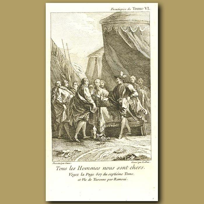 Antique print. Wealthy Men
