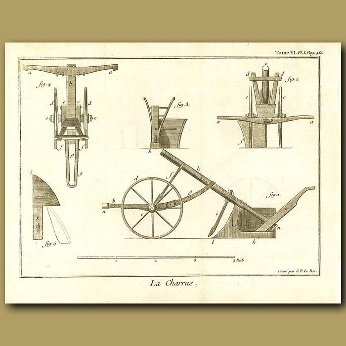 Antique print. The Plough