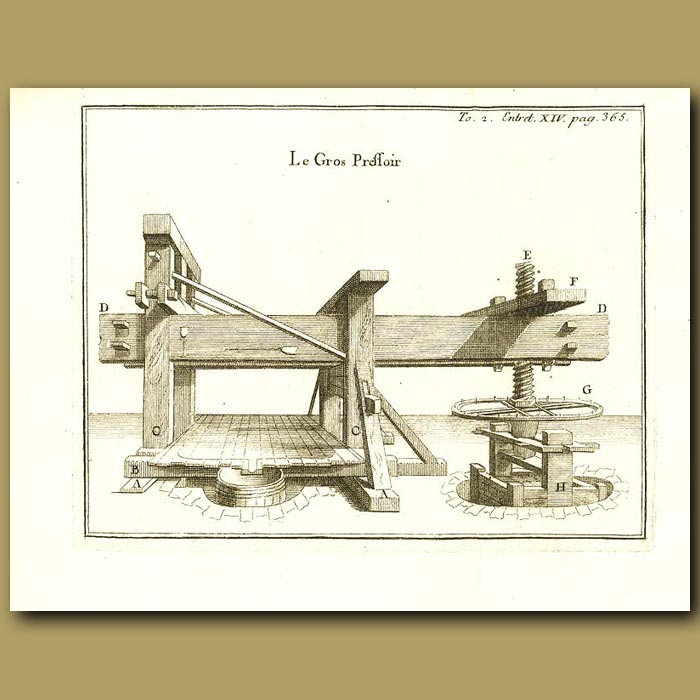 Antique print. Large Press