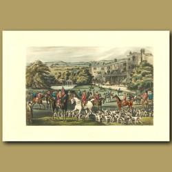 Amstead Abbey: Hunters On Their Horses