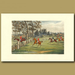 He's Heart Of Oak!: Horses Clearing A Fence