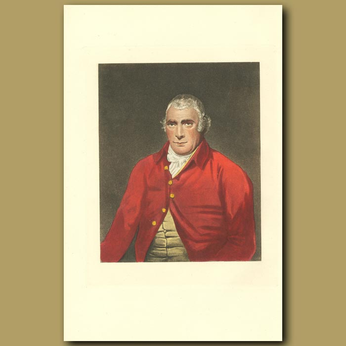Antique print. Portrait Of Dick Knight, After B. Marshall