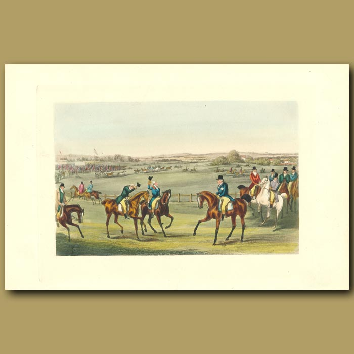 Antique print. Bibury Meeting In Its Palmy Days: Horse Riding