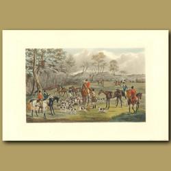 A Meet With His Grace The Duke Of Rutland: Fox Hunting