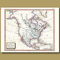 A General Map Of North America From The Latest Authorities