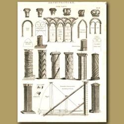 Architecture: Types of columns etc.