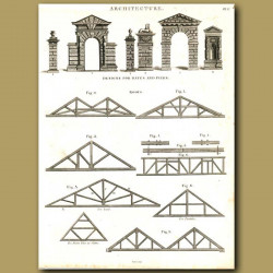 Architecture: Designs for gates and piers etc.