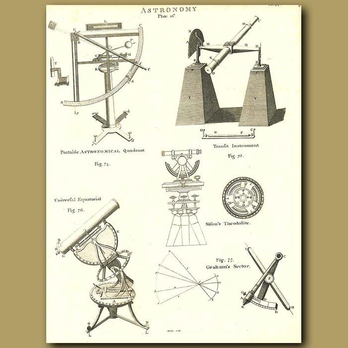 Antique print. Astronomy