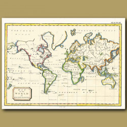 Map Of The World On Mercator's Projection