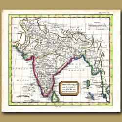 Map Of India Or Hindoostan From The Best Authorities