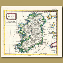 Map Of Ireland From The Best Authorities