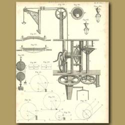 Mechanics: pulleys and hosits