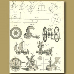 Mechanics: Carriages and Windmill