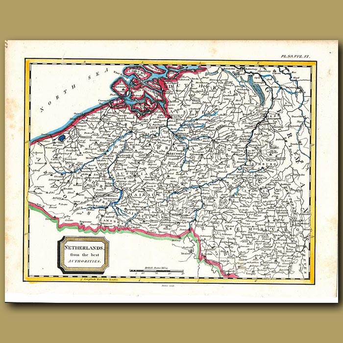 Antique print. Map Of Netherlands From The Best Authorities