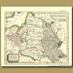 Map Of Poland Showing The Claims Of Russia, Prussia And Austria From The Best Authorities