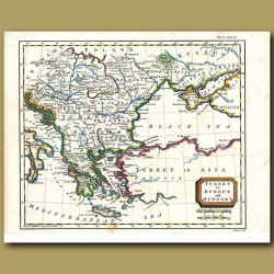Map Of Turkey In Europe And Hungary