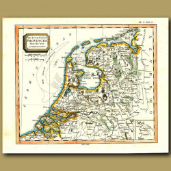 Map Of The Seven United Provinces (Holland And Flanders) From The Best Authorities