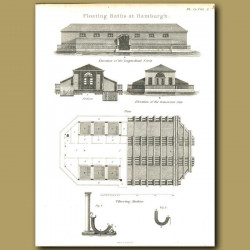 Architecture: Floating baths at Hamburgh etc.