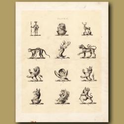 Heraldry 2: Tiger, Monkey, Horse etc