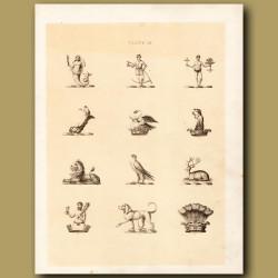 Heraldry 3: Mermaid, Swan, Deer etc