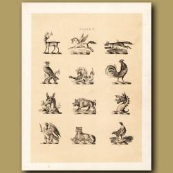 Heraldry 5: Pegasus, Fox, Eagle etc