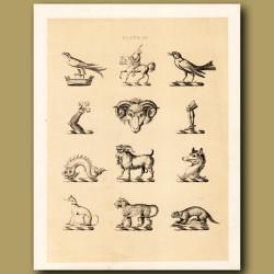 Heraldry 9: Knight, Dog, Leopard etc
