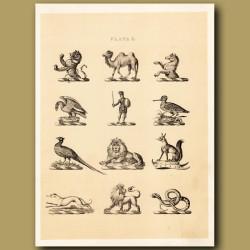 Heraldry 10: Camel, Wolf, Lion etc