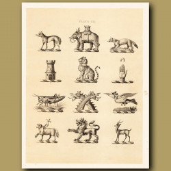 Heraldry 12: Wolf, Locust, Elephant etc