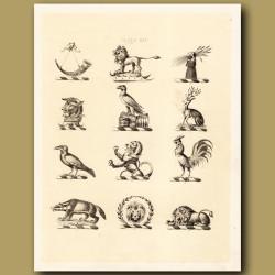 Heraldry 14: Deer, Raven, Badger etc