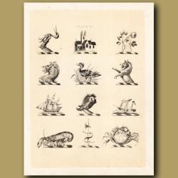 Heraldry 15: Lion, Boar, Lobster etc