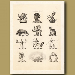 Heraldry 16: Centaur, Lion, Hedgehog etc