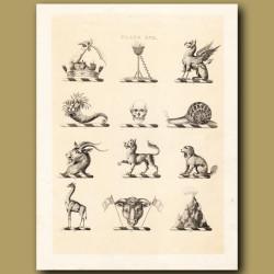 Heraldry 17: Griffin, Skull, Snail etc