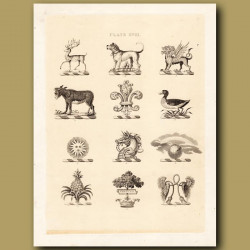 Heraldry 18: Mastiff, Donkey, Pineapple etc