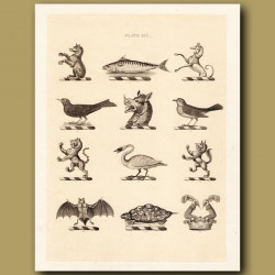 Heraldry 19: Bear, Turtle, Greyhound etc