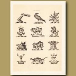 Heraldry 20: Merlion, Camel, Lizard etc