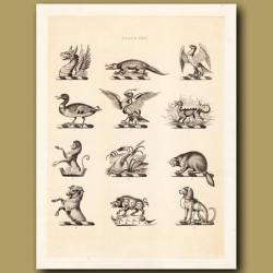 Heraldry 24: Crocodile, Snake, Beaver etc